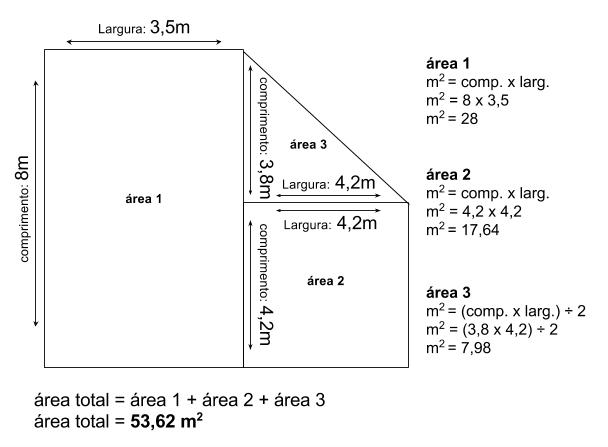 cálculo de metragem quadrada de uma área irregular para instalação de piso para playground