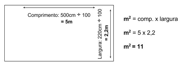 cálculo de metragem quadrada de uma área para instalação de piso para playground