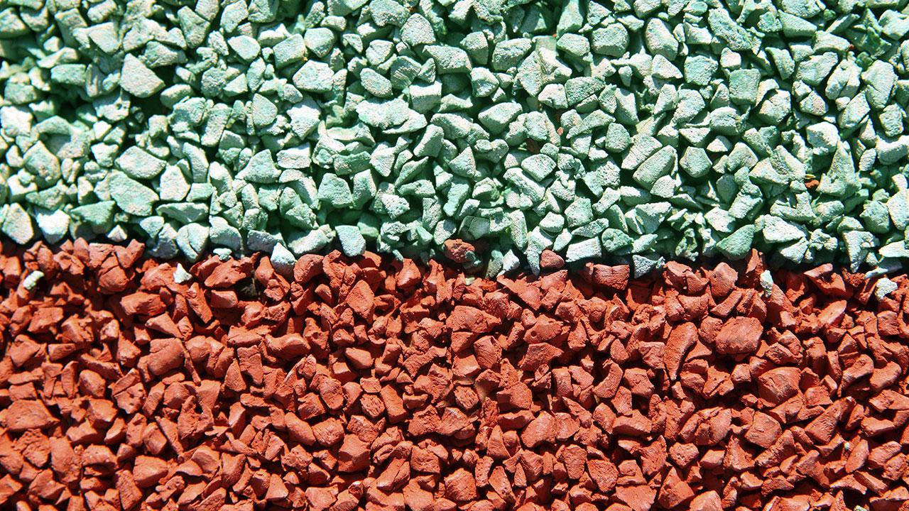 grãos de borracha reciclada para piso emborrachado para playground