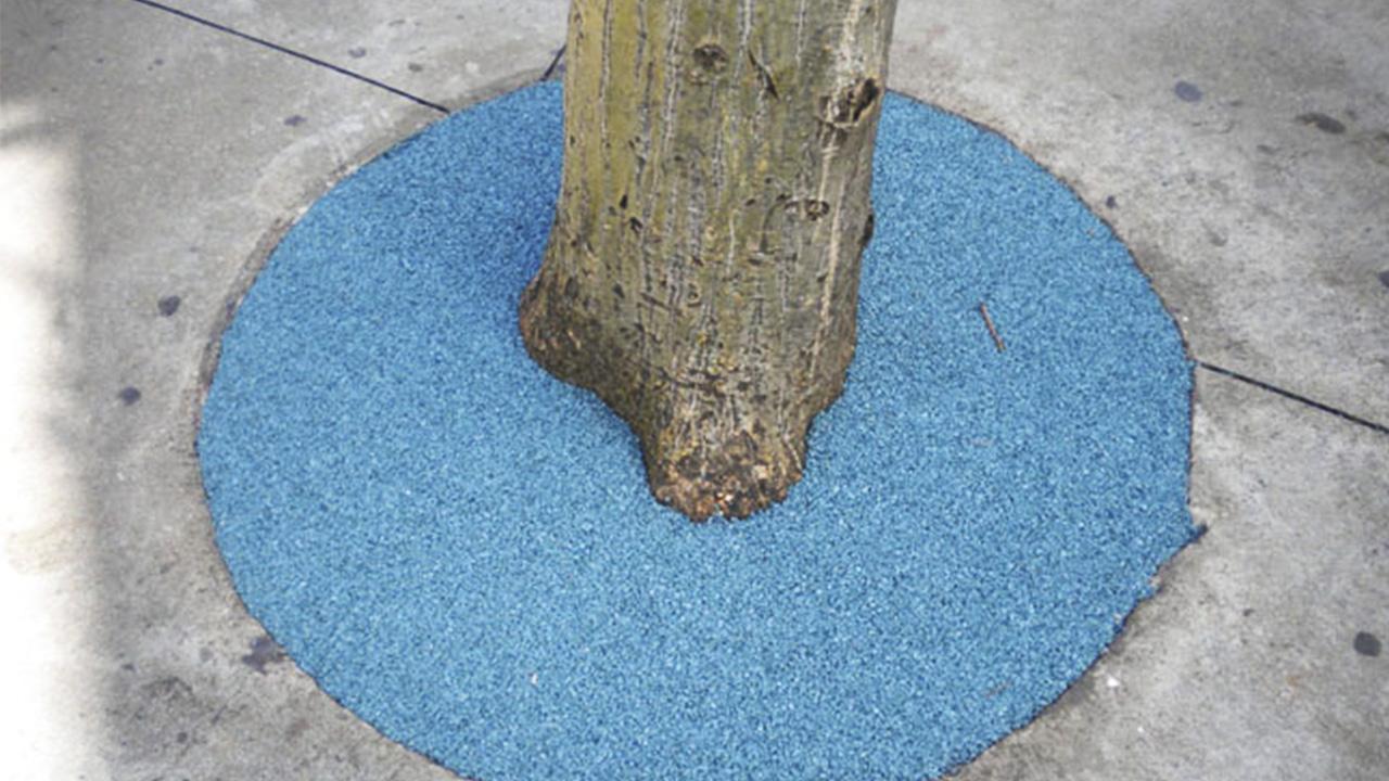 revestimento de borracha ecológica feita de pneu reciclável para golas de árvores drenante